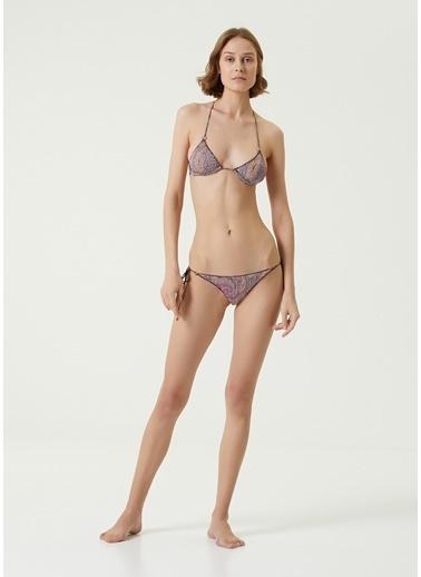 Etro Etro  Şal Desenli Üçgen Bikini Takımı 101618114 Pembe